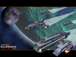 Fleet of Saturian Ships